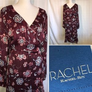 RACHEL Rachel Roy Carbon Wrap Dress Plus Size